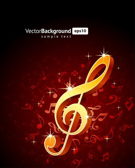 Theme Music Notes Vector 5