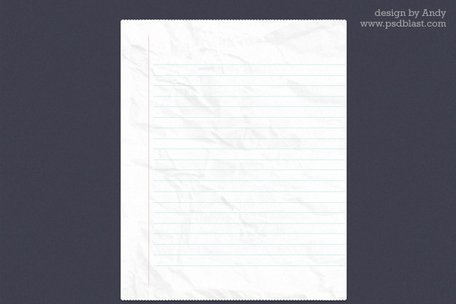 Note book paper PSD