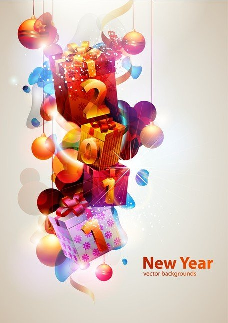 Cool Glare New Year Theme Vector 2