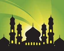 Mosques Abstract Background
