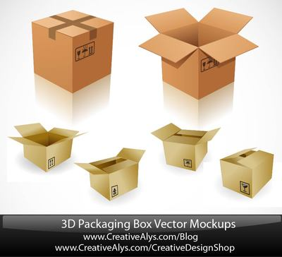 3D Paper Board Packaging Box Set