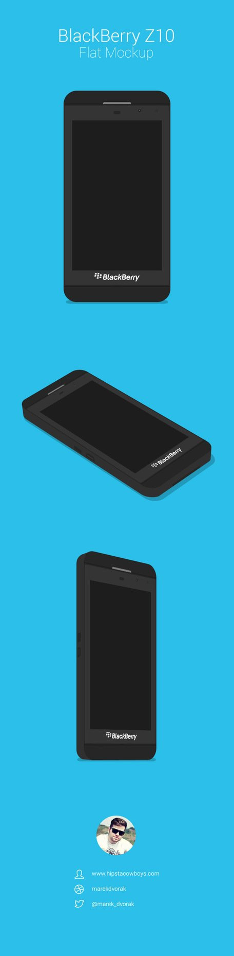 BlackBerry Z10 maquete plana