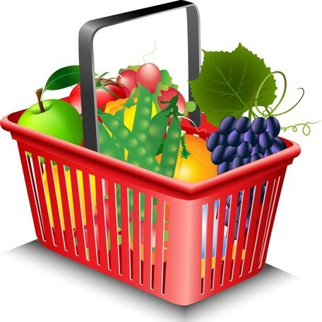 Fruits And Vegetables And Shopping Basket 02