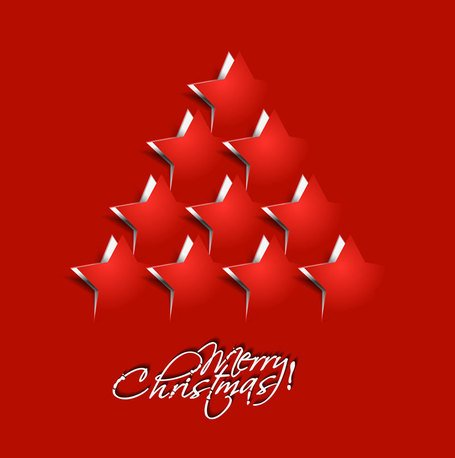 Christmas origami templates vector-4