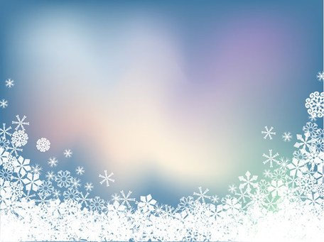 Snowflake Symphony Vector Background material