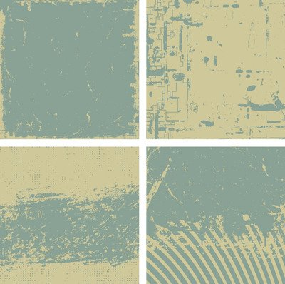 4 Backgrounds Vintage grungy