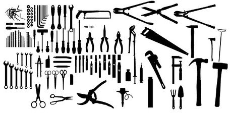 An indispensable tool for life silhouette