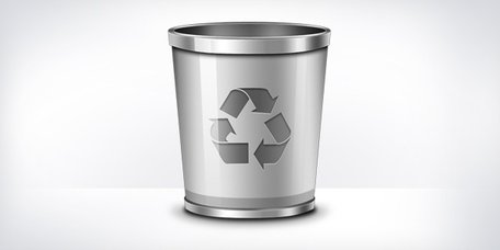 Recycleren bin pictogram (PSD)