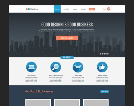 Flache Business-Template