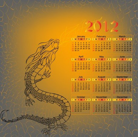 2012 anno del calendario Dragon