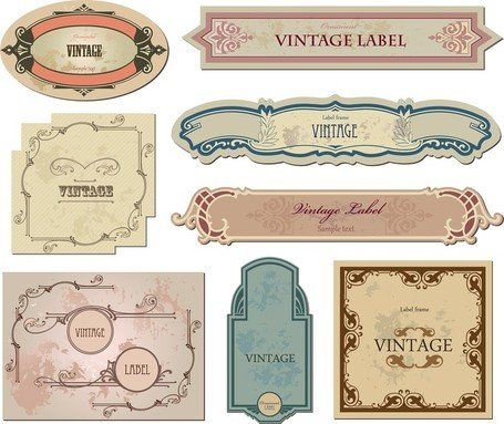 Classic Europeanstyle Bottle Labels And Stickers