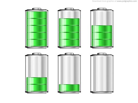 Battery levels icons