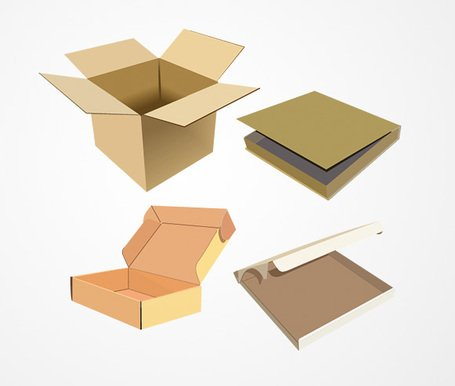 Open Cardboard Box Vector Set (Free), Vector Graphic - Clipart.me