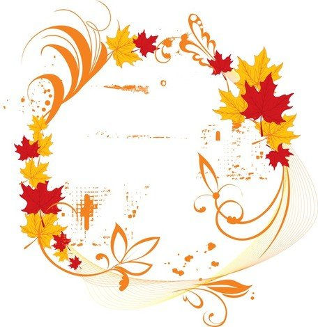 Vector Autumn Elegant Frame
