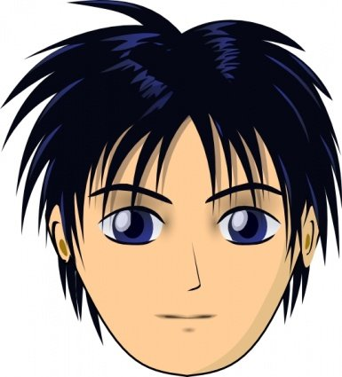 asian anime boy head