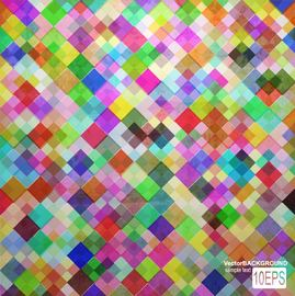 Colorful Tiled Pattern Background