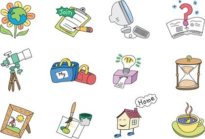 Cartoon Style Vector Elements 01