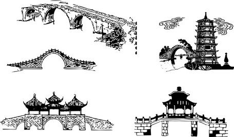 Pont en arc Architectural traditionnel chinois