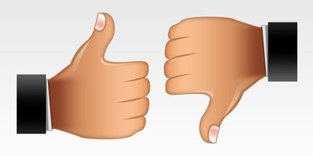 Thumbs up, thumbs down icons (PSD)