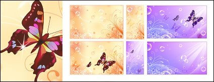 Butterfly Dream flower bubble vector background material