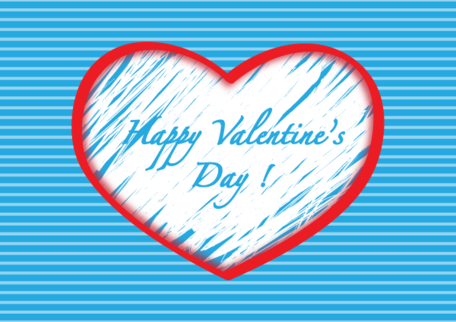 Happy Valentine Day Heart Background