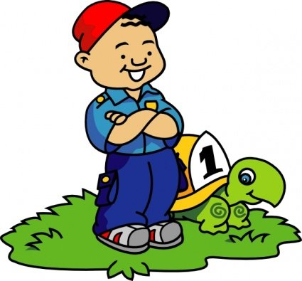 Boy And Turtle