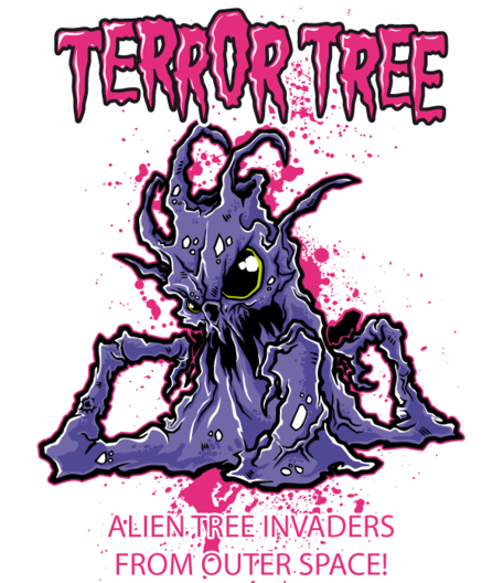 Free Vector T-shirt Design - Terror Tree