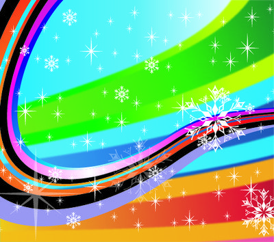 Colorful Stripy Holiday Background