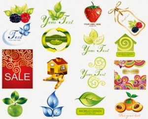 Stock iconen: Fruit Icons-Set