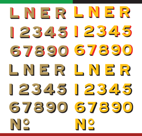 Vector LNER Old Style Typeface