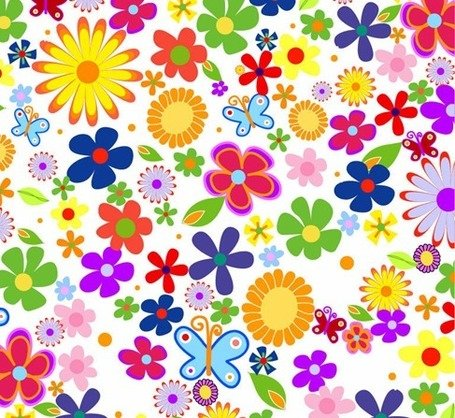 Free Spring Flowers Background Clipart And Vector Graphics Clipart Me