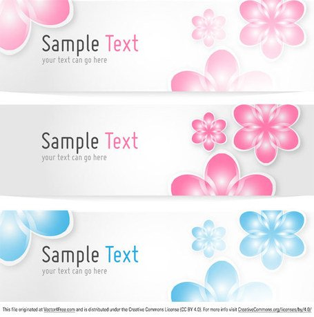 Floral Banners Vector Template
