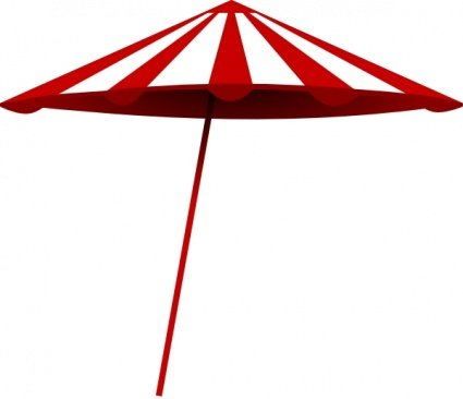 Tomk Red White Umbrella