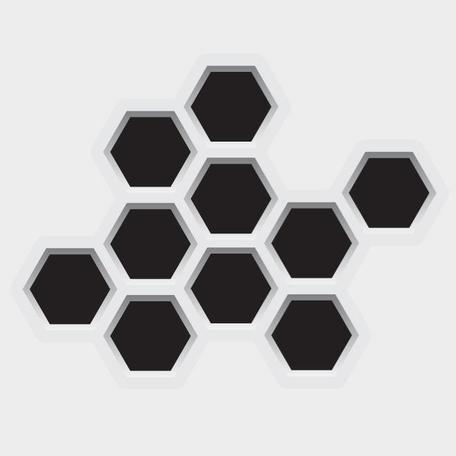 HEXAGONAL PUNCHED HOLES VECTOR.eps