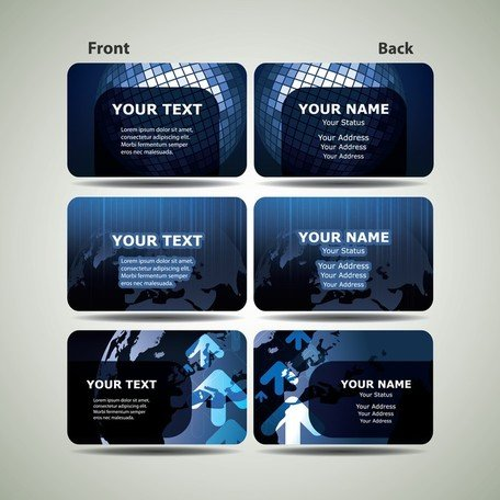 Blue Technology Business Card Template 01