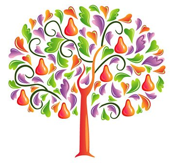 Heart-shaped vector material consisting of tree