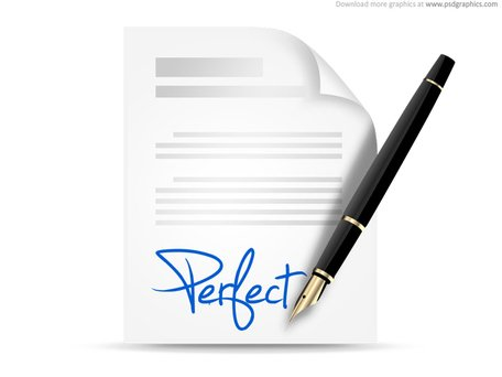 Signing contract icon (PSD)