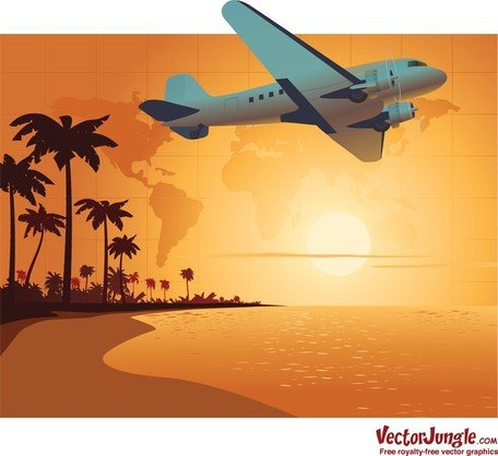 Airplane Over Beach Travel