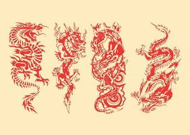 Dragons Vector Graphics Pack