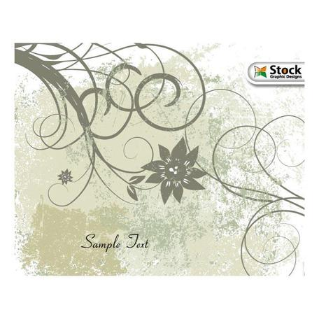 GRUNGE FLORAL BACKGROUND.eps
