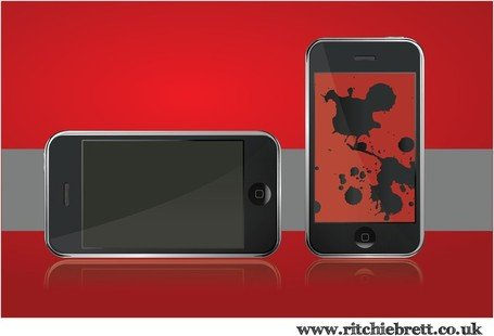 Gratis Iphone vectoren