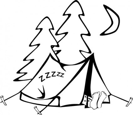 Sleeping In A Tent  sc 1 st  Clipart.me & Sleeping In A Tent Vector Graphic - Clipart.me