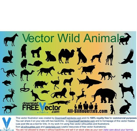 Vector Wild Animals