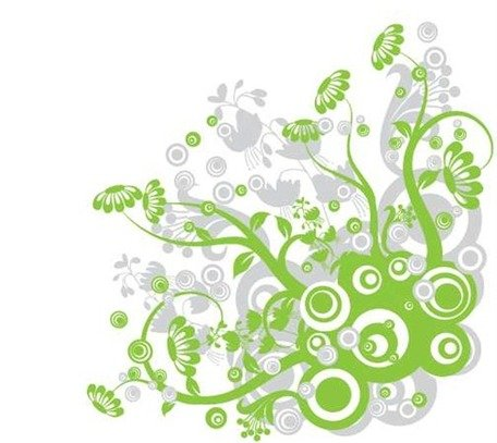Free Green Floral