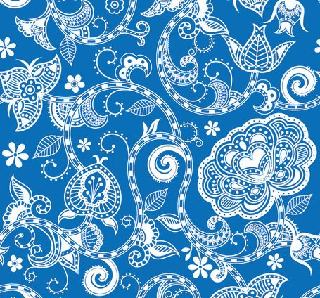 Blue Floral Background, free vector - Clipart.me