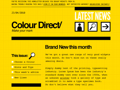 « Colordirect » Email Template PSD par Mike Kus