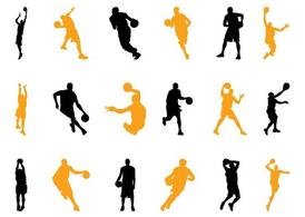 Basketball Players Silhouettes Pack