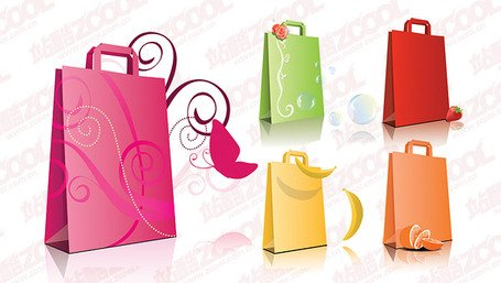 5 Vector material fashion handbag