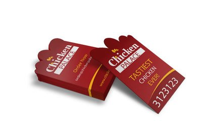 Chicken Palace Restaurant Business Card