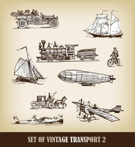 Europeanstyle Handdrawn Transport Carrier 03